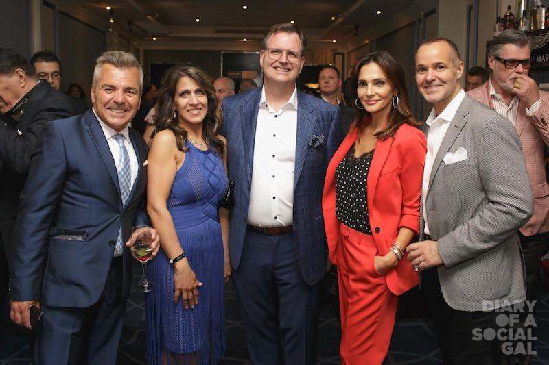 TEAM RITZ! MOSE PERSICO, ARLENE TORRIANI, husband Ritz-Carlton CEO ANDREW TORRIANI, CARMIE SAPUTO and husband, Montreal Impact chief JOEY SAPUTO.
