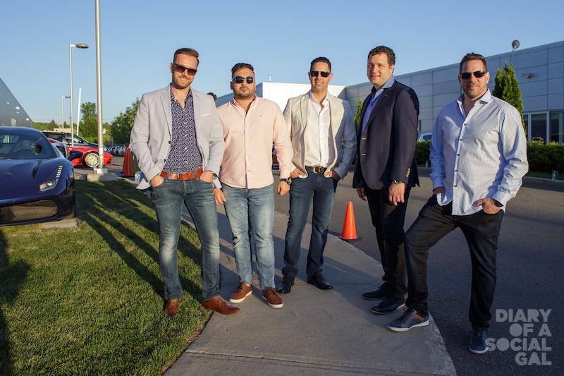 FERRARI BOYS: TRISTAN MANDRACCHIA, JEFFREY LABASI, TONY DE ROSA, PHIL DIBIASE, GINO DE ROSA.