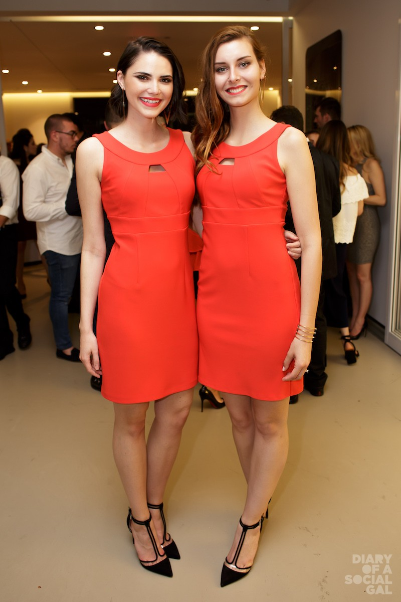 HOSTESSES  IN THE RIGHT HUE.