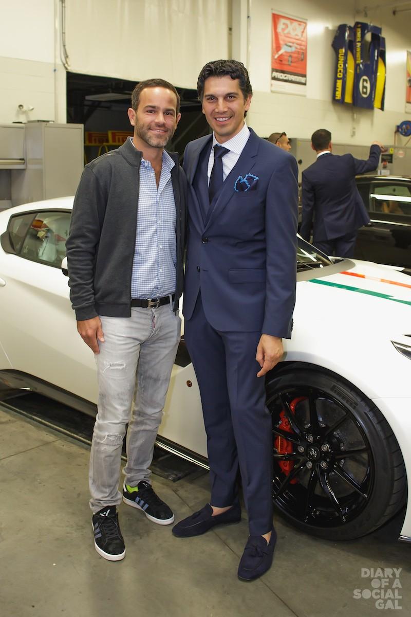 FERRARI FT LAUDERDALE MEETS FERRARI MTL: FERRARI FORT LAUDERDALE vice-president RONNIE VOGEL,   Ferrari Maserati Quebec president UMBERTO BONFA.
