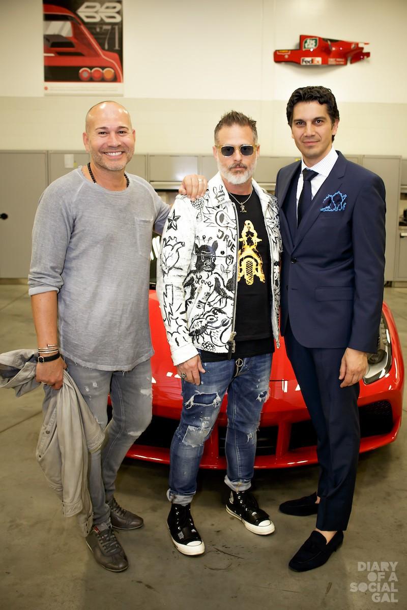 CAN YOU FEEL THE FAB? DIEGO MONTEFUSCO, BILLY WAXMAN, Ferrari Maserati Quebec president UMBERTO BONFA.