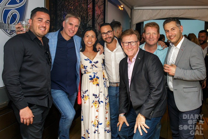 PAYSAFE POSSE: MAX LACHANCE, Paysafe CEO JOEL LEONOFF and the Paysafe crew, JENNY LU, BEN DALFEN, TIMTHURMAN, BRIAN MCARTHUR-MUSCROFT, and MIKE GIANNOUMIS.