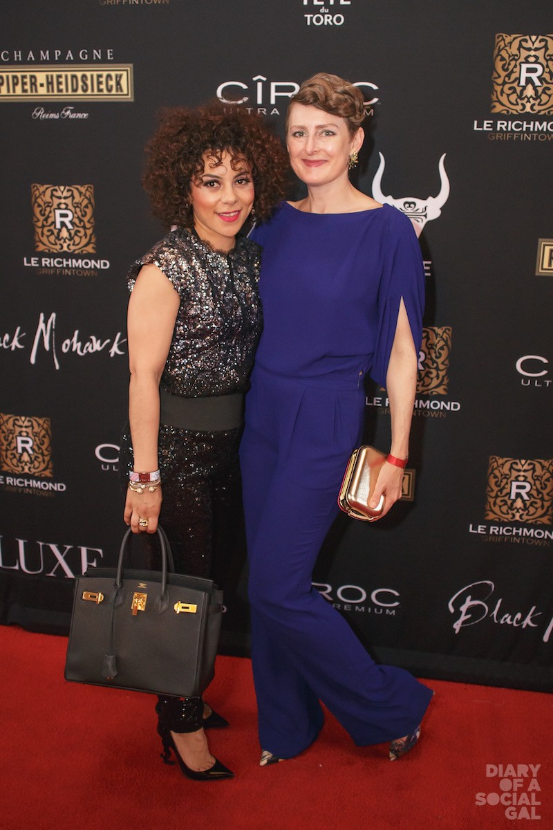 SOCIAL GALS GOT STYLE! ASY KIKI in HERMES and YSL, CARRIE MACPHERSON in DVF.