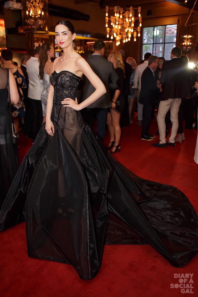 GOBSMACKINGLY GORGEOUS! Model in MAVRA TOUFIDIS gown.