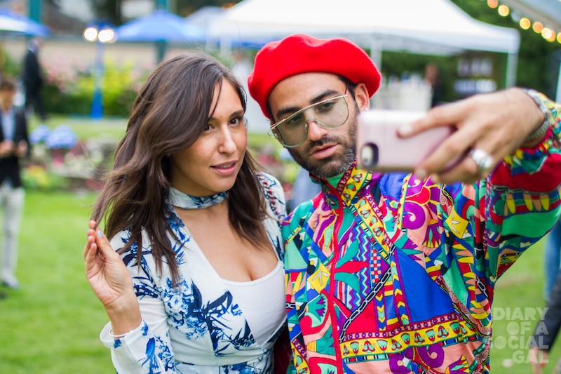PATTERN THAT! The ever-colourful PR pro ASHLEY ROSENBERGER and super-stylist CARY TAUBEN.