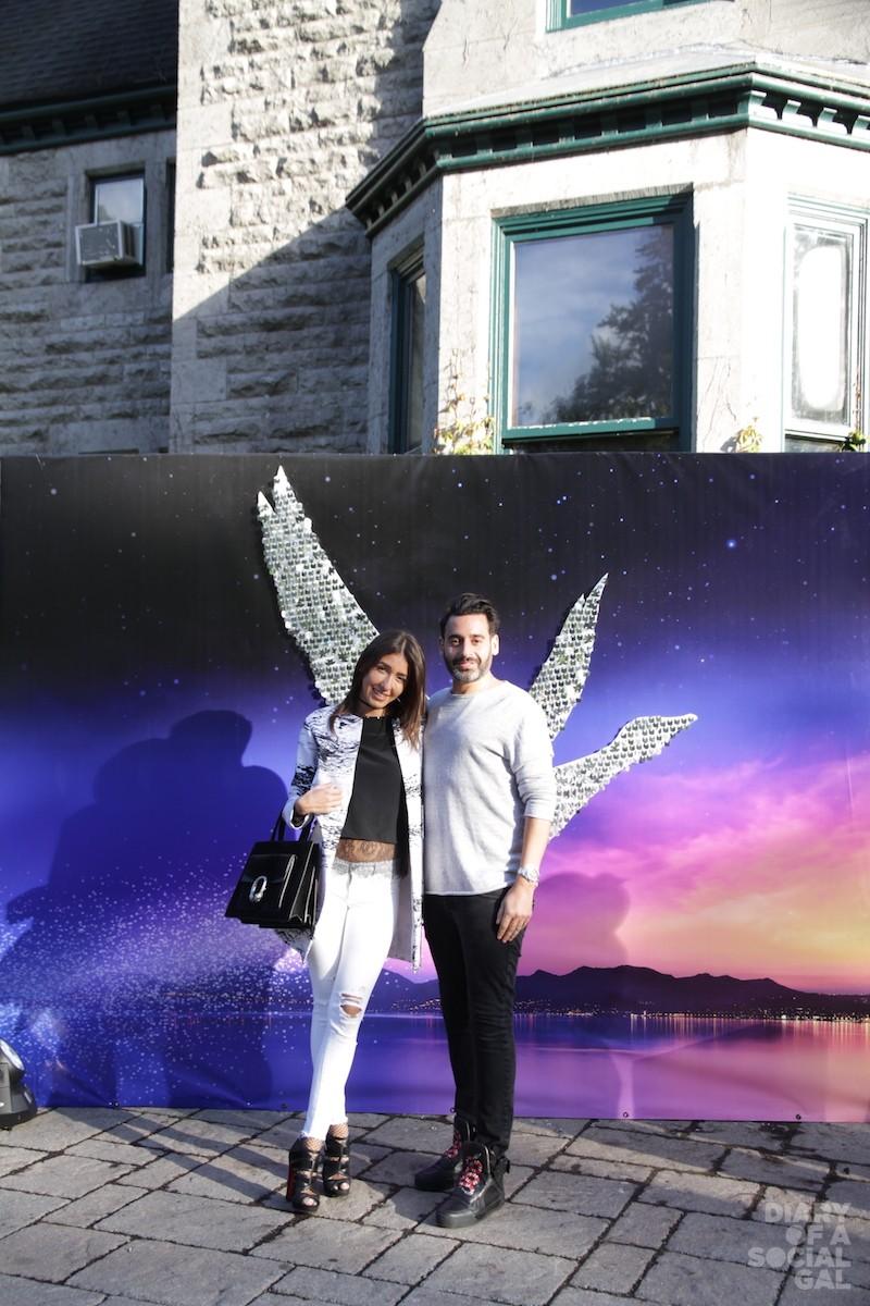 WINGING IT: Nouveau Noir owner DANIA RECOMPILES and boyfriend EDEN OUAKNINE.