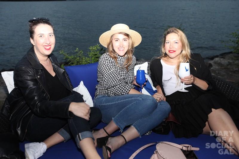 CLIN D'OEIL EDITOR-CHILLIN: E.I.C. MÉLANGE PELICAN, fashion editor ERIKA TREMBLAY, and beauty editor STEPHANIE HOULE.