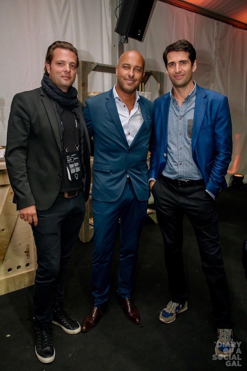 SUPERMEN OF SUMMER! Executive producer JEAN-FRANÇOIS ETHIER, Boiron Canada president / CEO DANIEL DERESER, and iNNERSHiP co-founder THOMAS D'HAUTEVILLE.