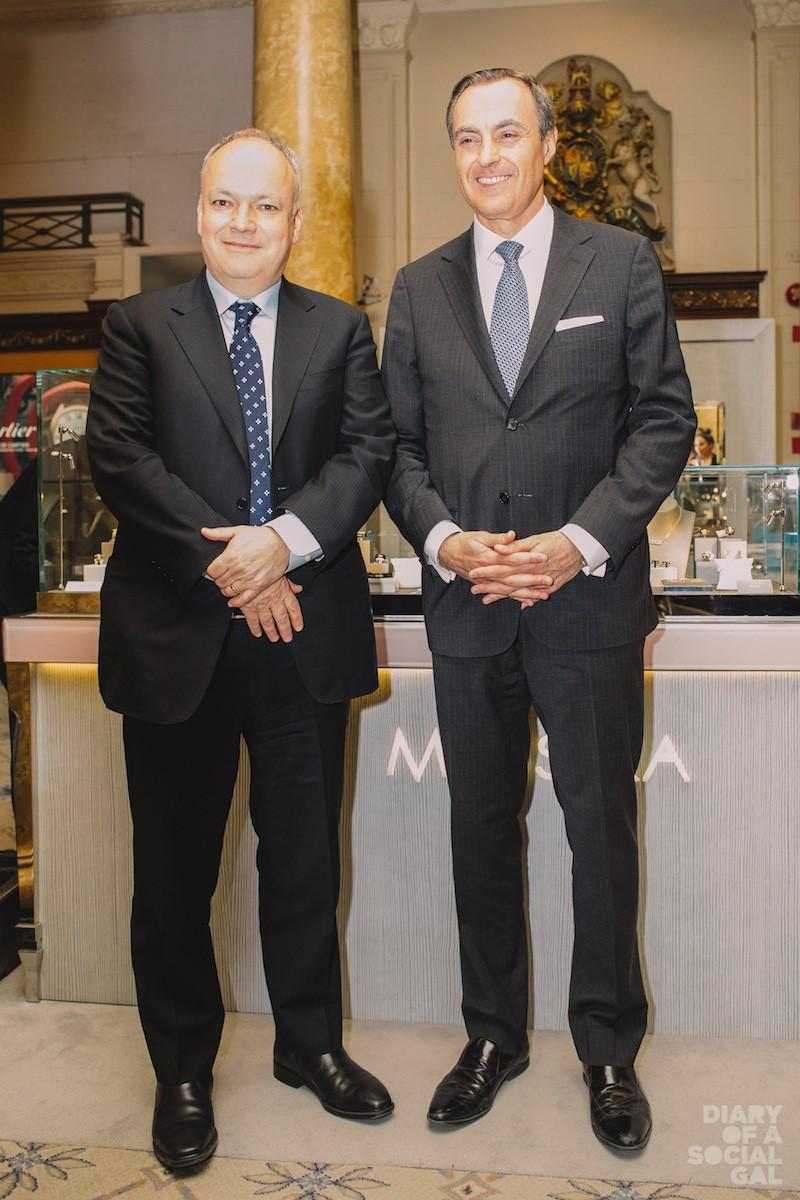 DIAMOND DUDES! Stornoway president / CEO MATT MANSON, Birks Group president /CEO JEAN-CHRISTOPHER BÉDOS.