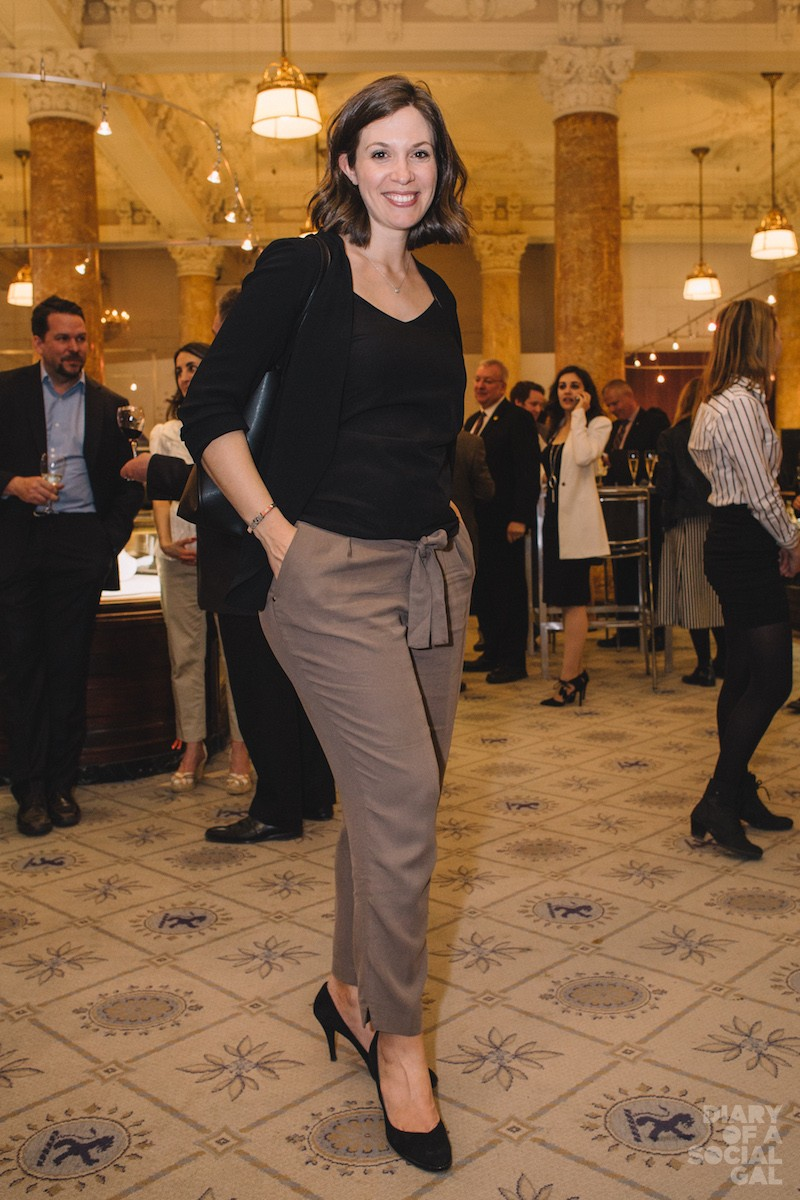 L'OREAL LOVELY: L'OREAL LUXE  communications director, the elegantly expectant ISABELLE RANDEZ.