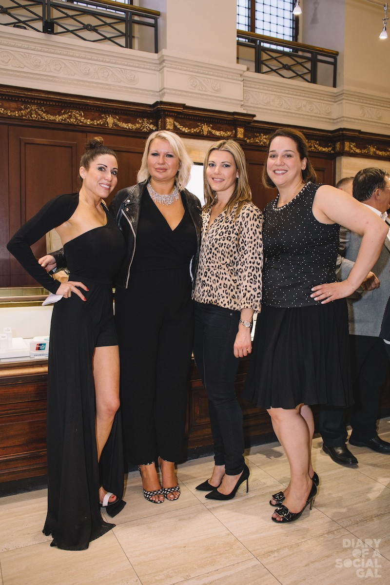 SOCIAL GALS UNITE: Diary's JENN CAMPBELL, Birks' EVA HARTLING, Antonopoulos Group's ANNA ANTONOPOULOS, National PR's CHRISTINE BOIVIN.