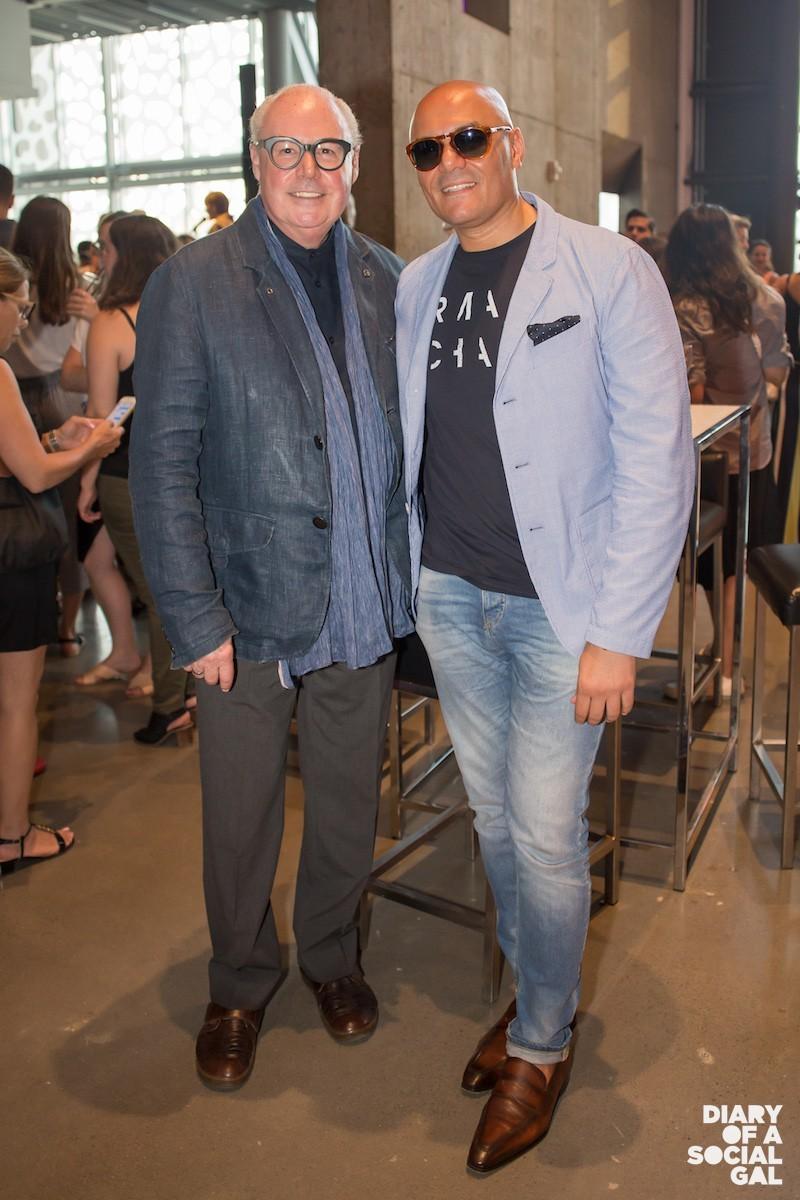 BROMANCING IN STYLIE: Designer JEAN-CLAUDE POITRAS,  influencer ALESSANDRO BERGA.